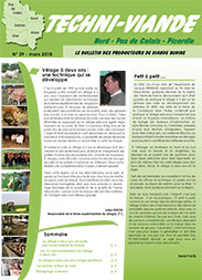 Bulletin techniviande n 39 chambre d 39 agriculture du nord for Chambre agriculture nord
